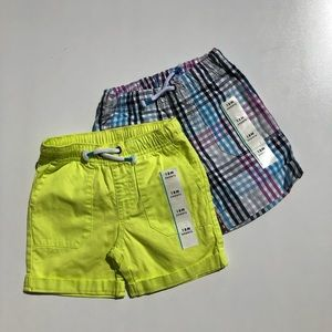 Cat & Jack yellow and plaid shorts